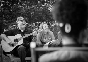 Ron led song service & Sabbath evening worship